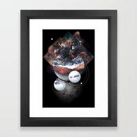 Crystal Nebula Framed Art Print