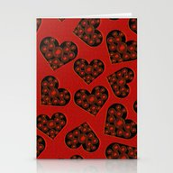 Burning Hearts Stationery Cards