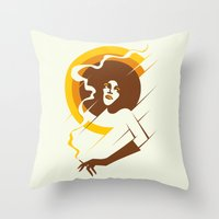 Retropolitan (warm) Throw Pillow
