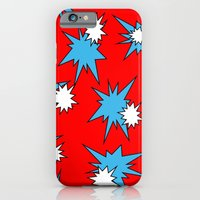 iPhone & iPod Case featuring Stars (Blue & White on Red) by Paul James Farr