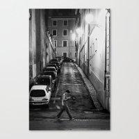 Night stroll Canvas Print