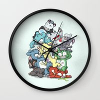 Bear Pile Wall Clock