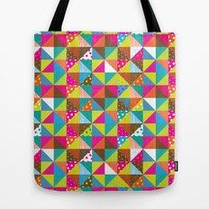 Crazy Squares Tote Bag