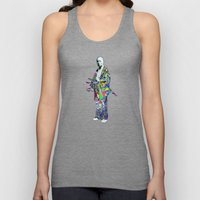 Colorful Samurai Unisex Tank Top