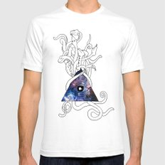 Space Snakes Mens Fitted Tee SMALL White