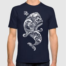 The White Whale  Mens Fitted Tee Navy SMALL