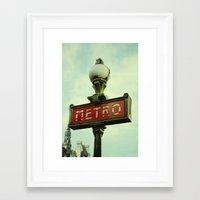 Riding on the Metro Framed Art Print