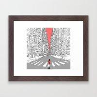Lonely Metropolis Framed Art Print