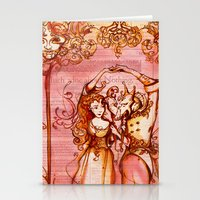 Much Ado About Nothing - Masquerade - Shakespeare Folio Illustration Stationery Cards