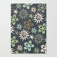 unlikely snowflakes Canvas Print
