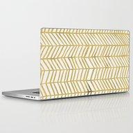 Gold Herringbone Laptop & iPad Skin