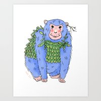 Peachtree The Chimp In B… Art Print