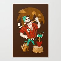 Green Thumberjack Canvas Print