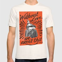 Without Love Mens Fitted Tee Natural SMALL