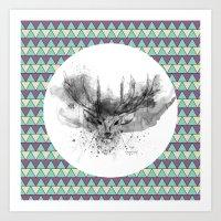 Deer V2 Art Print