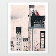 Snow Queen - Kay and Gerda Art Print