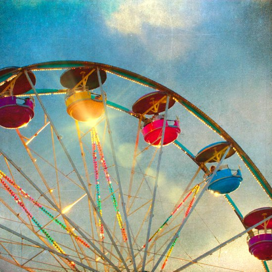 Light up the Sky carnival ferris wheel  Art Print