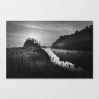 The River Severn Dawn - … Canvas Print
