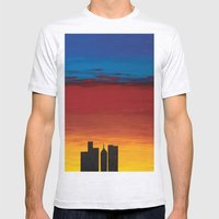 City Morning Mens Fitted Tee Ash Grey SMALL