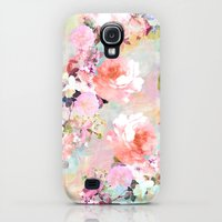 Galaxy S4 Cases featuring Love of a Flower by Girly Trend