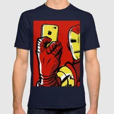 Stark #Selfie Mens Fitted Tee Navy SMALL