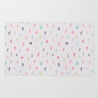 Bright Letters Rug