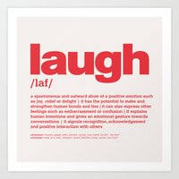 definition LLL - Laugh 5 Art Print