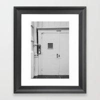 White Door Framed Art Print