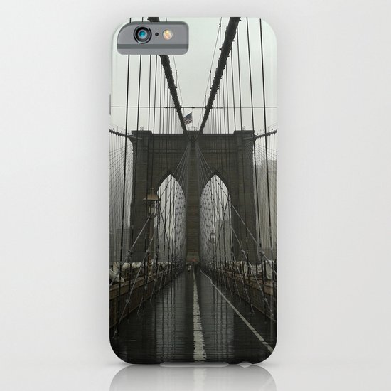 Rainy day at Brooklyn Bridge iPhone & iPod Case