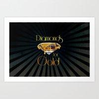 Diamonds for Gold Minimal Art Print