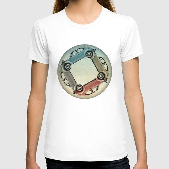 4 more bugs _ VW beetle T-shirt