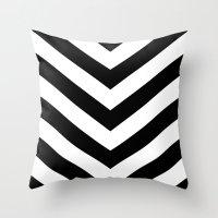 V Black Throw Pillow