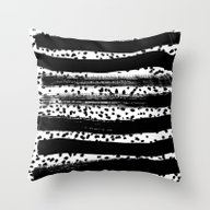 Iver - Black And White M… Throw Pillow
