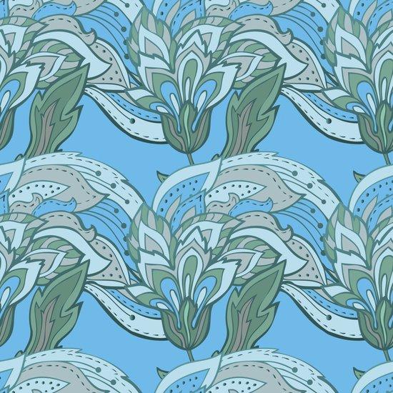 Elegant vintage floral pattern Art Print