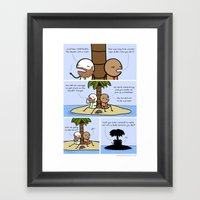 Antics #094 - Die-curiou… Framed Art Print