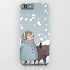 Pig in snow iPhone 6s Slim Case