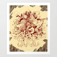 SUOC-Wood Art Print