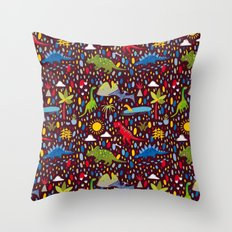 Dinosaur Repeat Throw Pillow