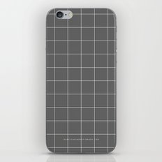 Grey and White Grid iPhone & iPod Skin