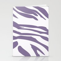 Purple zebra print Stationery Cards