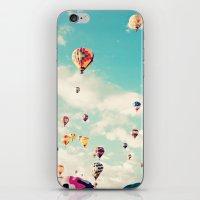 Balloons Taking Off iPhone & iPod Skin