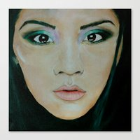 THE EURASIAN GIRL Canvas Print
