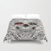 Lace Skull Light Duvet Cover