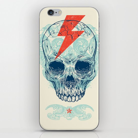 Skull Bolt iPhone & iPod Skin