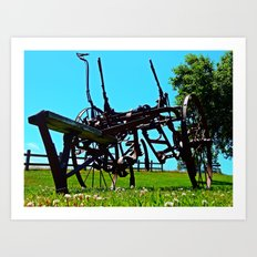 Antique Farm Implement Art Print