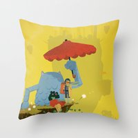 Matilda and Bouru - Melancholy Throw Pillow