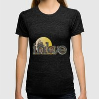In Love Womens Fitted Tee Tri-Black SMALL
