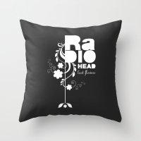 Radiohead song - Last flowers illustration white Throw Pillow