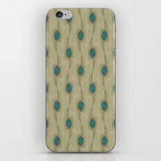 Turquoise Circles Pattern Modern Abstract iPhone & iPod Skin