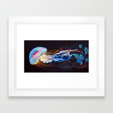 Nebula Jellyfish Framed Art Print